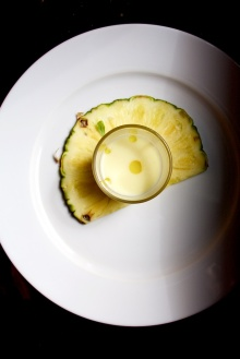 almond cold soup pineapple