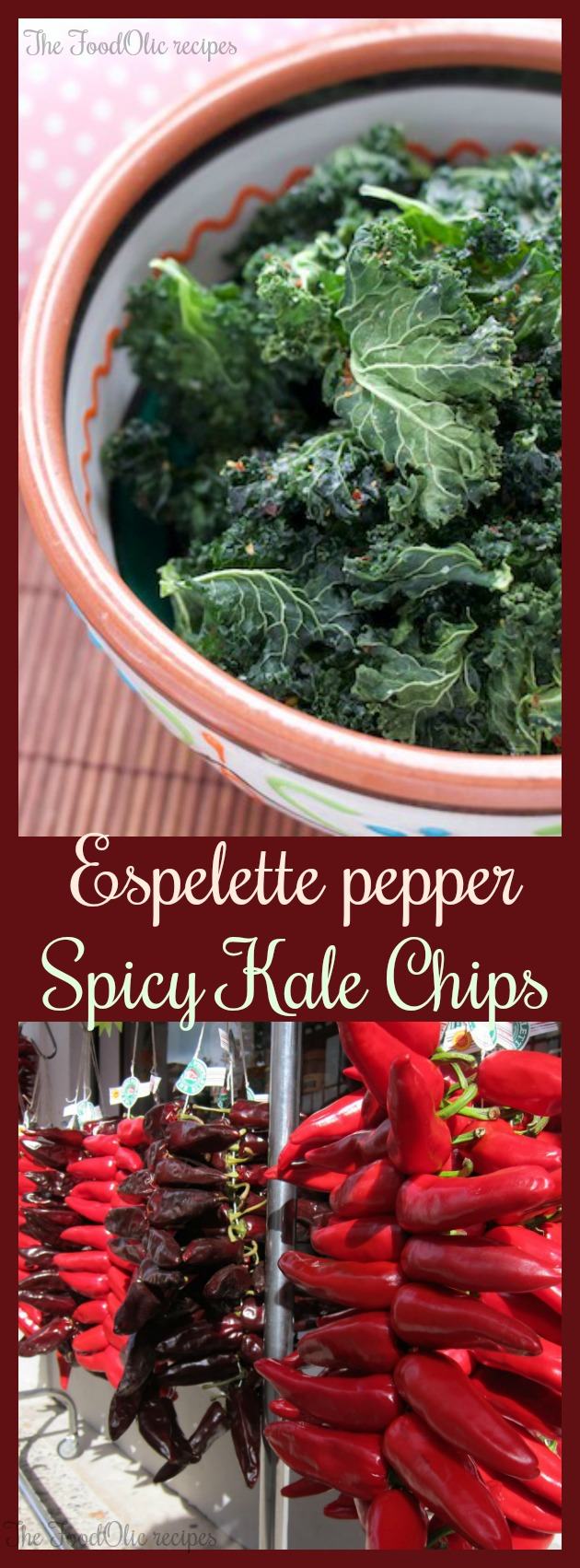 spicy kale chips healthy vegan snack