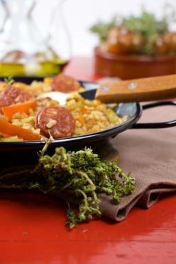 Paella de chorizo