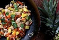 spicy chicken pineapple woktop