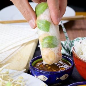 shrimp Spring rolls mint mango