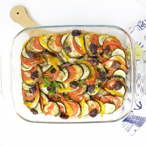 Ratatouille kalamata goat cheese