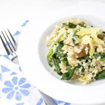 Shiitake and Spinach Risolla