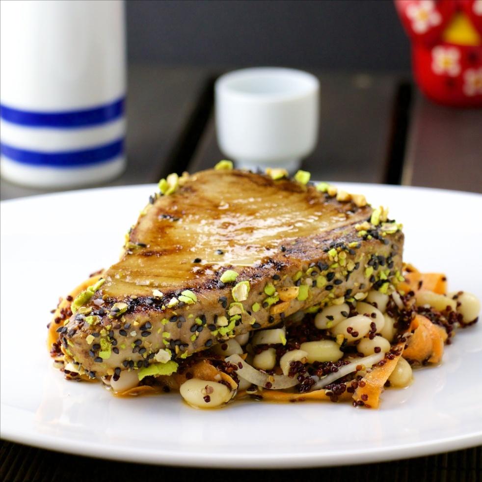 Tuna Tataki with wasabi crust