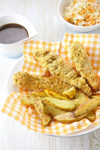 Chicken fingers St-Hubert style