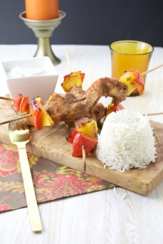 Chicken Tandoori skewers mango