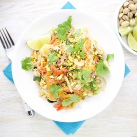 Coco-Lemongrass chicken noodles