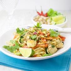 Coco-Lemongrass chicken noodles