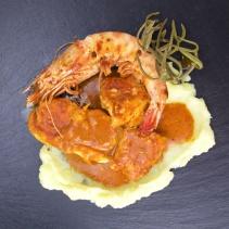Monkfish in Brandy Sauce