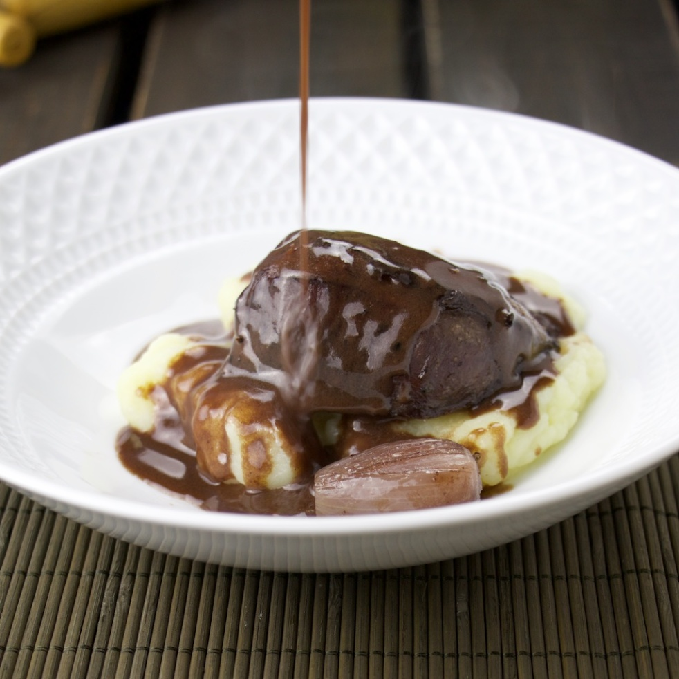 Tender Pork cheek in wine sauce