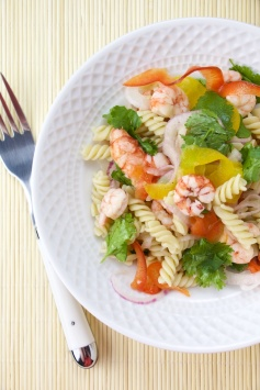 Shrimp Ceviche with Quinoa pasta