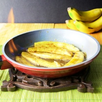 Bananes flambées rum
