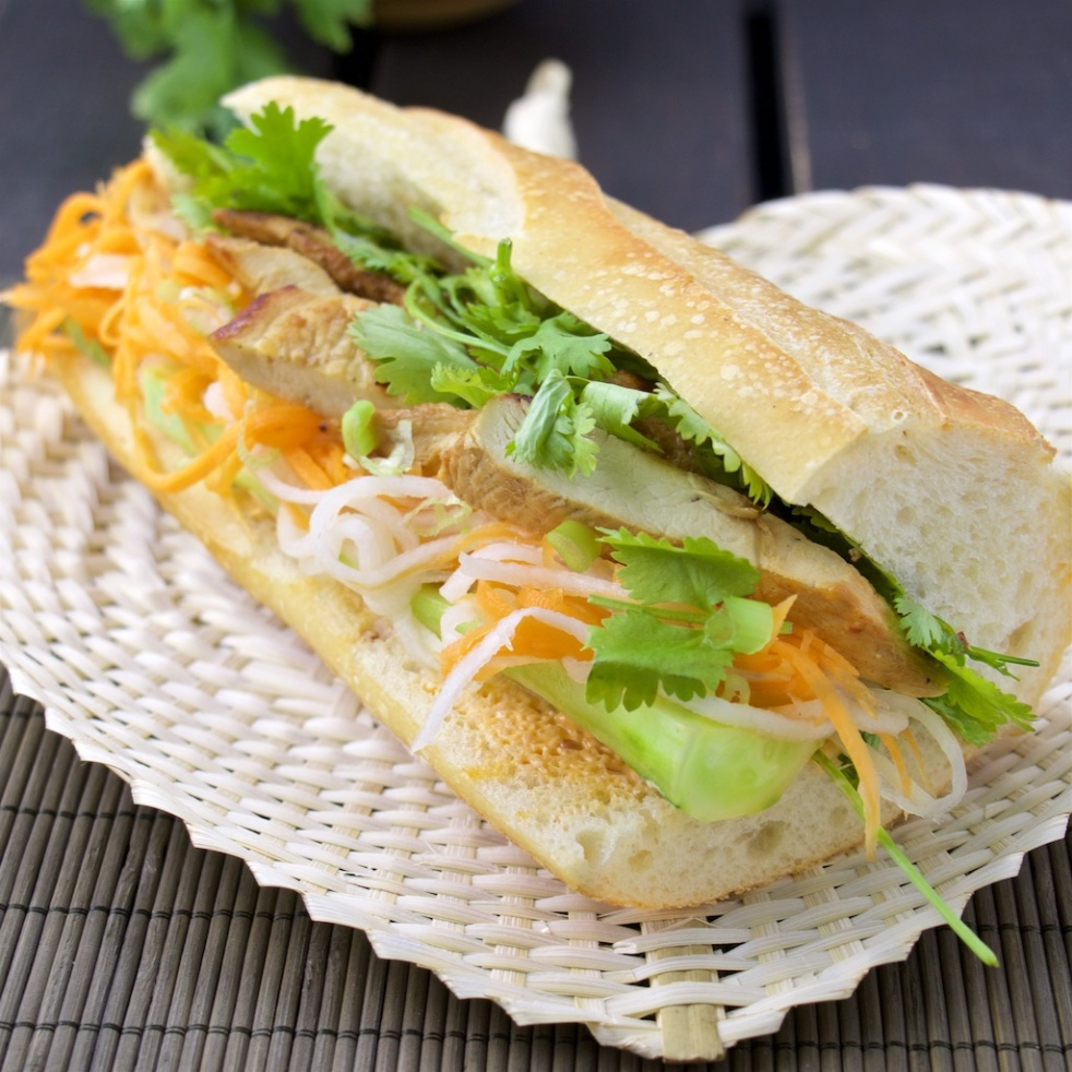 Banh Mi with lemongrass chicken