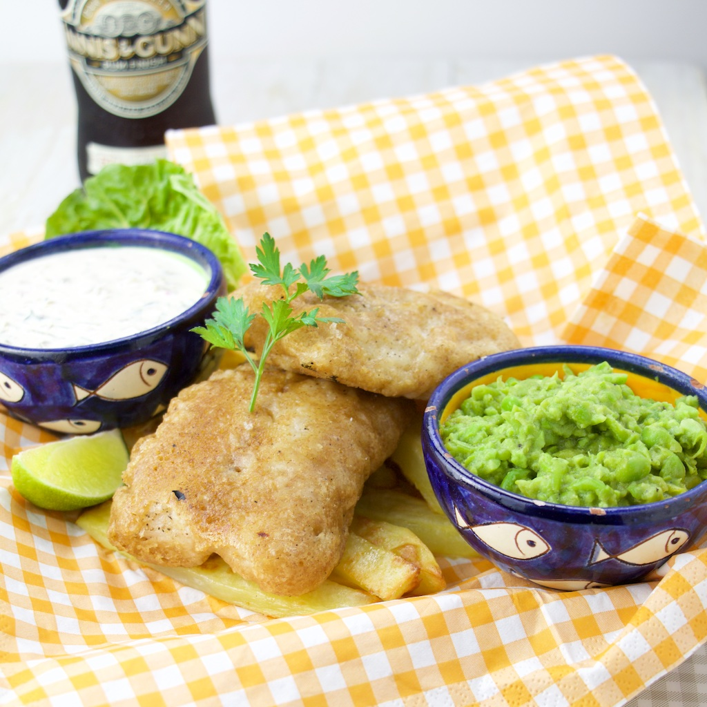 Beer battered fish and chips the foodolic recipes for Beer batter fish and chips