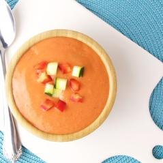 Gazpacho cold tomato soup spanish