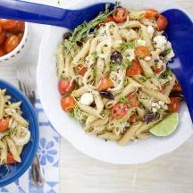 Greek Pasta Salad kalamata feta pasta