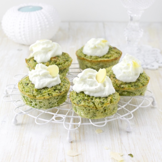 Savoury Broccoli cupcake with a goat cheese frosting (2)
