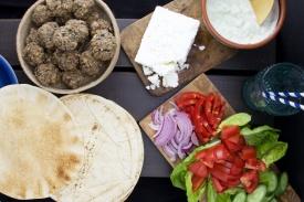 Greek falafel pita