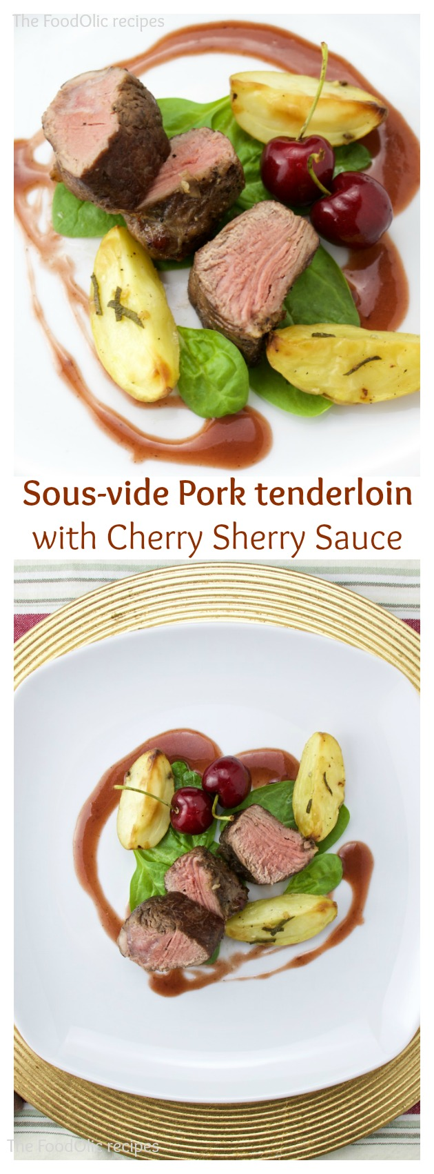 pork tenderloin cherry sherry sauce