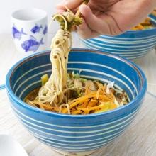 Shiitake and broccoli ramen soup