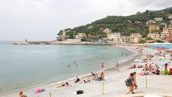 Camogli beach, Liguria, Italy