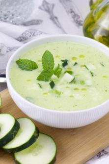 Cucumber-mint Gazpacho