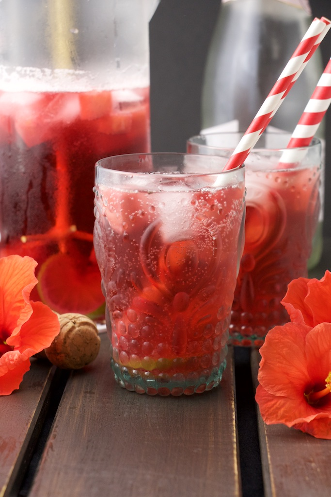 Pineapple and Hibiscus Sangria