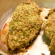 Pistachio crusted chicken breast