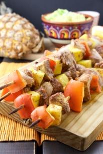 Tandoori chicken-pineapple skewers