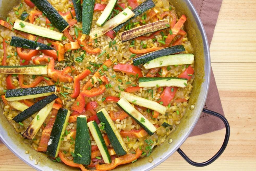 Vegetarian Paella zucchini