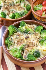 Broccoli Swiss gratin