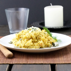 Butternut squash-blue cheese risotto