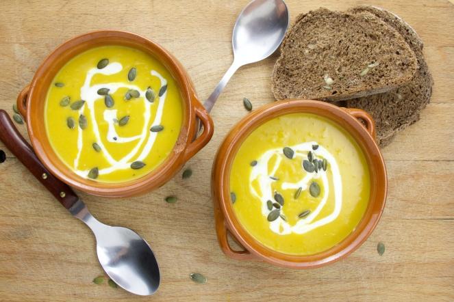 Coco-ginger pumpkin soup