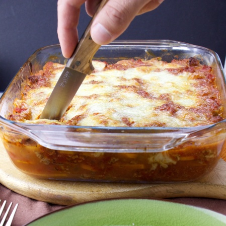 Spicy sweet potato lasagna