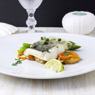 Hake on roasted potato