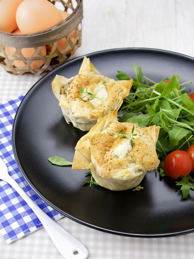 mini quiches artichoke goat cheese