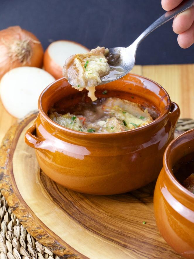 Double onion soup