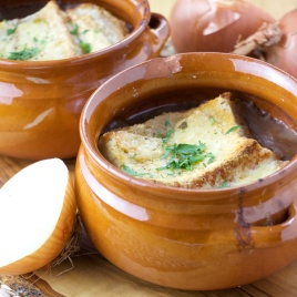 Double onion soup