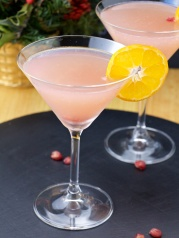 Pomegranate vodka martini