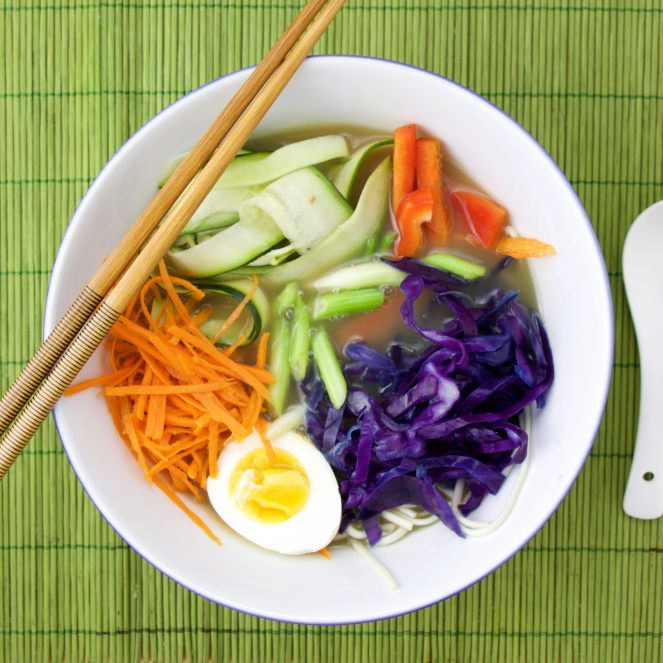 Rainbow Noodle Soup Bowl
