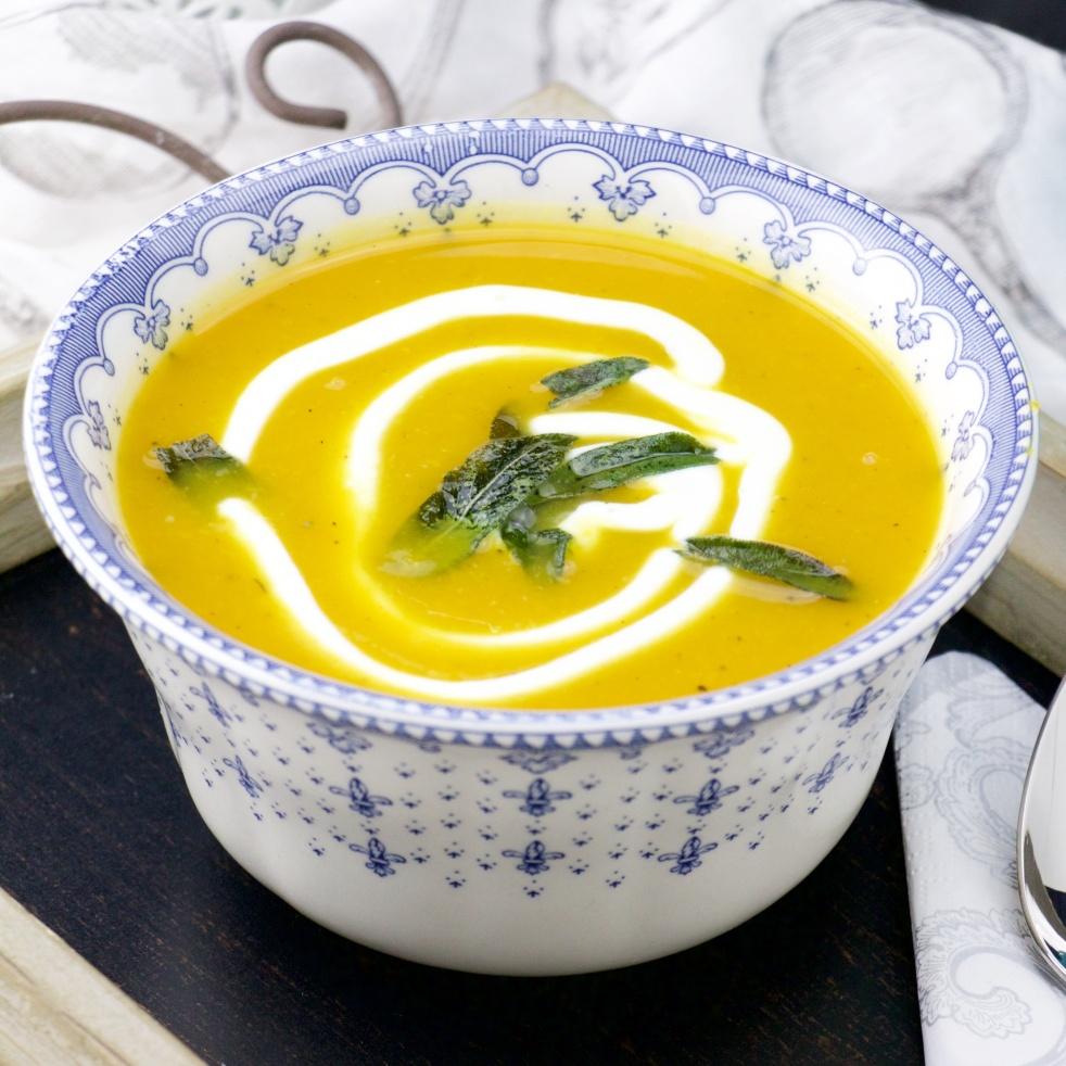 butternut, leek and sage soup