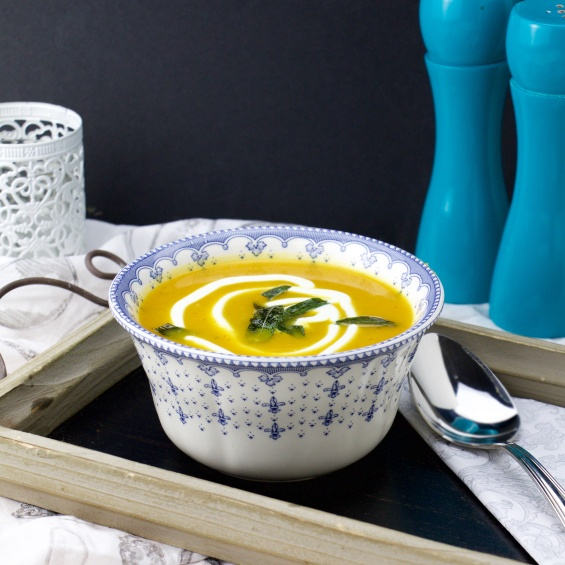 butternut, leek and sage soup