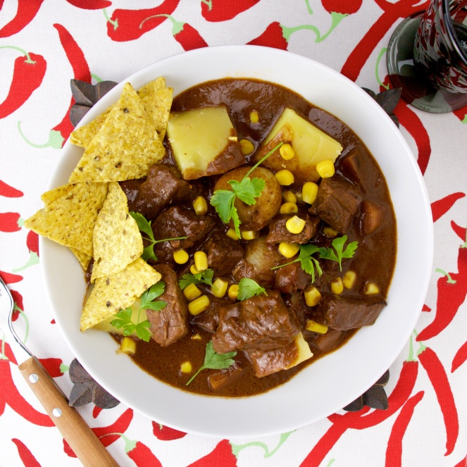 mole mexican beef stew