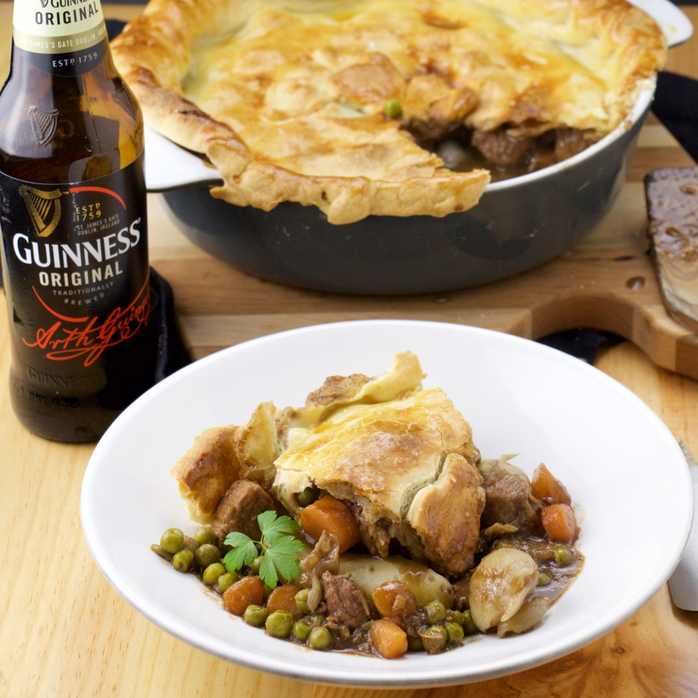 Guinness drunken meat pie