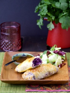 Healthy Purple Egg Roll