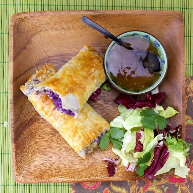 Healthy Purple Egg Roll