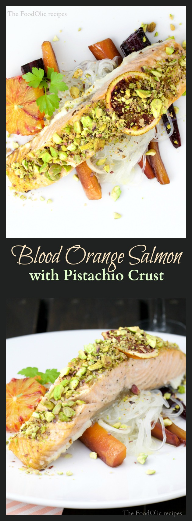 Blood Orange Salmon with Pistachio Crust is an extra fun and colorful dish. A tangy yet crunchy dose of sun and omega-3.