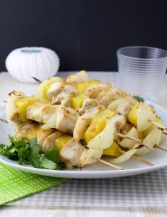 Hawaiian teriyaki chicken skewers