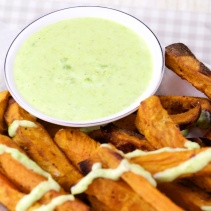 Sweet potato Wasabi-pea dip