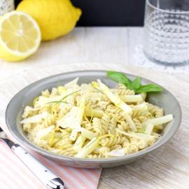 creamy pasta white asparagus